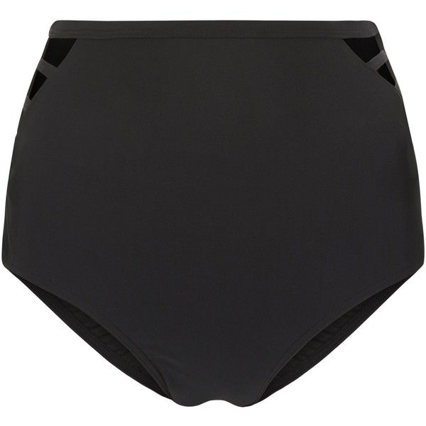 New Look Black Cut Out High Waisted Bikini Bottoms ($15) ❤ liked on Polyvore featuring swimwear, bikinis, bikini bottoms, black, cut out bikini, high waisted bikini, cutout bikini, high-waisted swimwear and highwaisted bikini bottoms