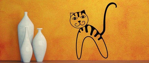 Kočka (1354) / Samolepky na zeď, stěnu a nábytek