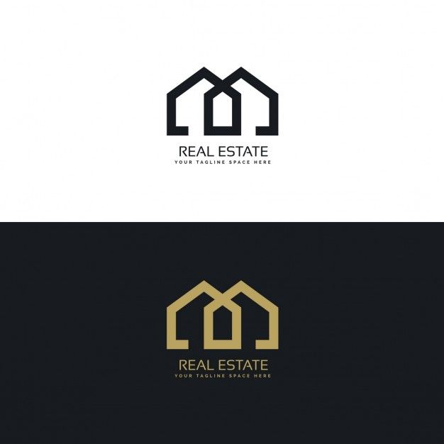 Gold and black logo with geometric shapes Free Vector