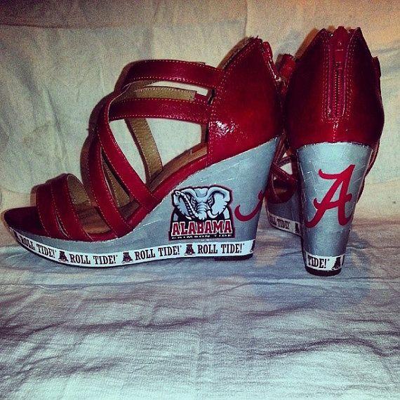 141c572f257e Zebra print Nike Shox333 Alabama Crimson Tide Wedges ...