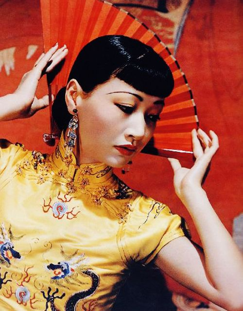 American born actress Anna May Wong in traditional Chinese dress, c. 1939.