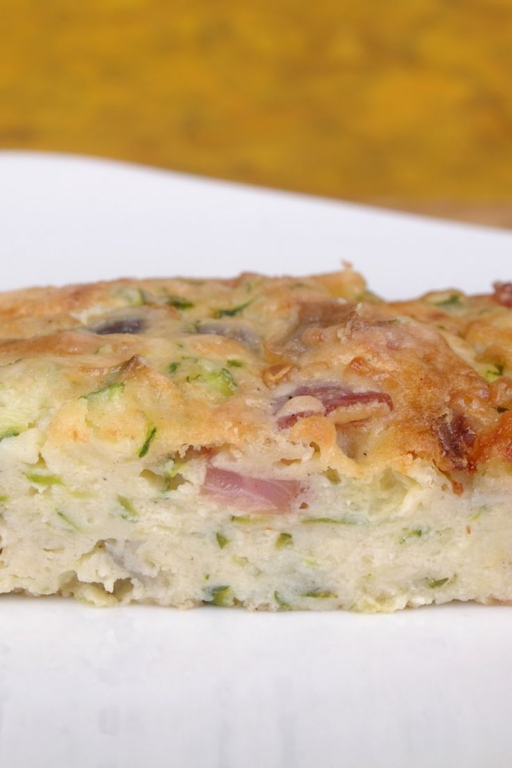 Breakfast Casserole with Hash Brown Potatoes, Cheddar Cheese & Ham #Recipe #WeightWatchers