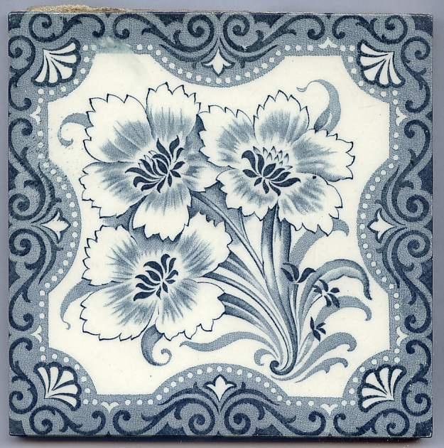 Antique Victorian Majolica Aesthetic Style - Ceramic Tile