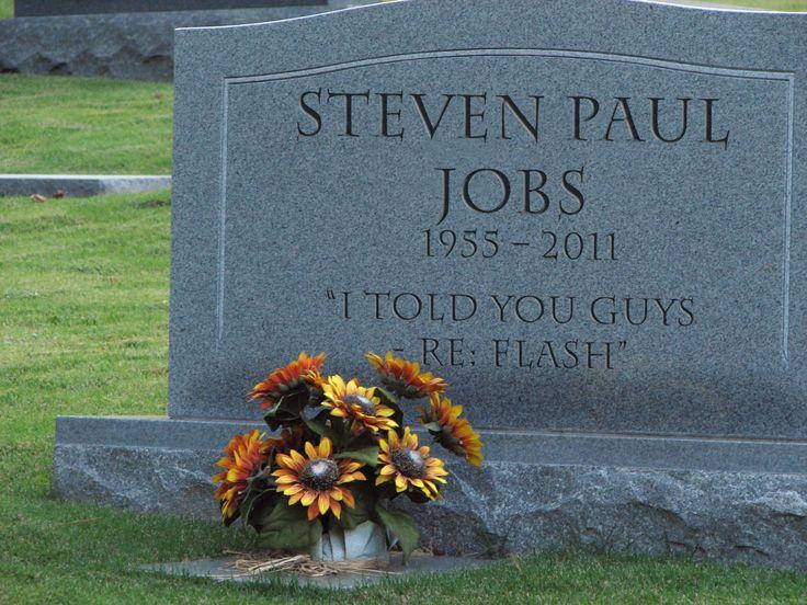 Steve jobs gravestones and markers pinterest parks