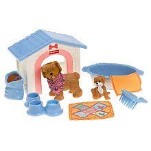 Fisher Price Loving Family Dollhouse Backyard Set, Puppy Playtime