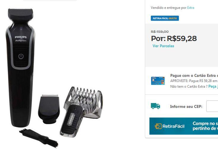 Aparador de Pelos Philips MultiGroom Series 3000 com 3 Acessórios QG3329 << R$ 5928 >>