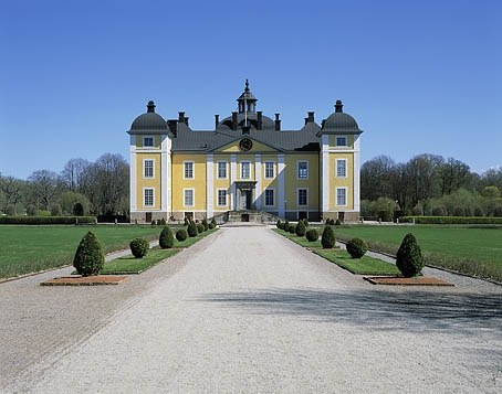 Strömsholm Palace, sometimes called Strömsholm Castle, is a Swedish royal palace. The baroque palace is built on the site of a fortress from the 1550s, located on an island in the Kolbäcksån river at the west end of Lake Mälaren.