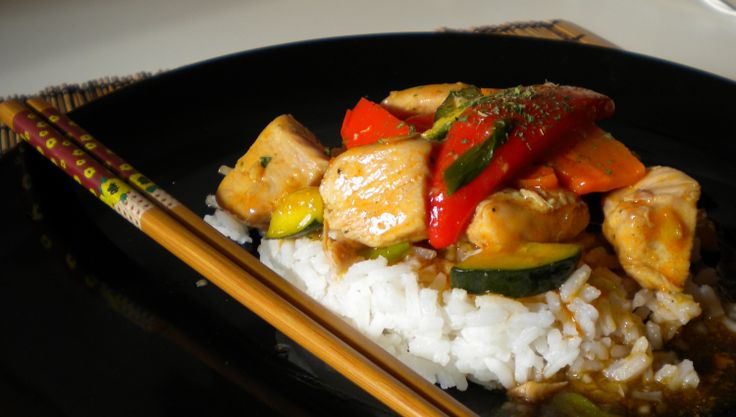 """Chicken Stir Fry, Sooooo!!,  Fast & Easy.  Chicken Stir Fry, so fast and easy, just the great flavours  of the orient. Just get """"Woking around"""" and even if you do not have one, then a fry pan  will work just as well. Try it with different veggies and rice it is sure to be a crowd pleasure..."""
