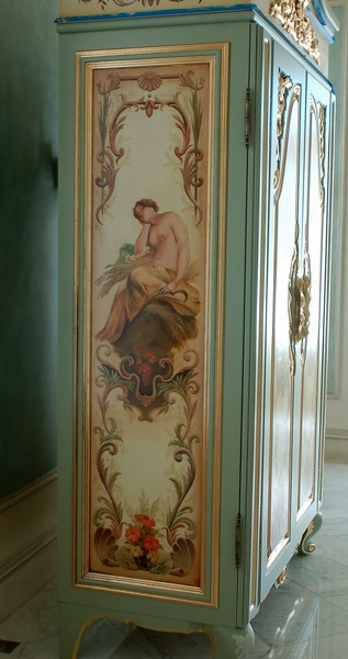 Image detail for -' with goldleaf gilding, panels feature bathing figures hand-painted ...