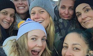 The 41-year-old beauty had reunited two-thirds of the Charlie's Angels cast as she was joined in the picture by Cameron Diaz - as well as Gwyneth Paltrow and Nicole Richie