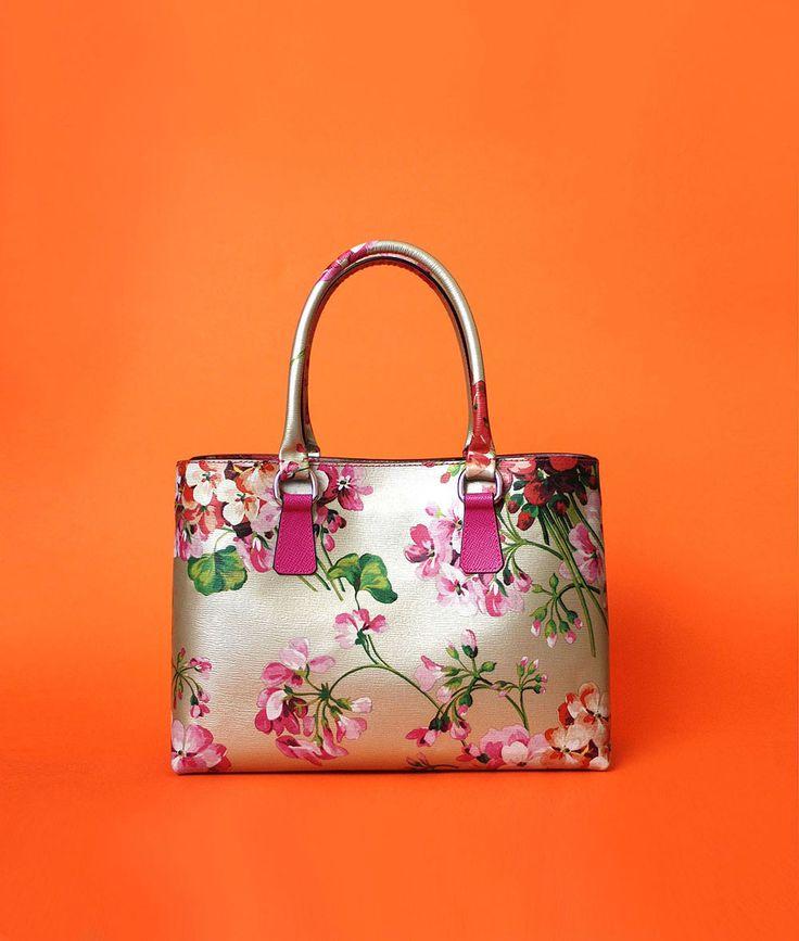 Otenberg flora print leather bag s2015 #otenberg #fashion #bags