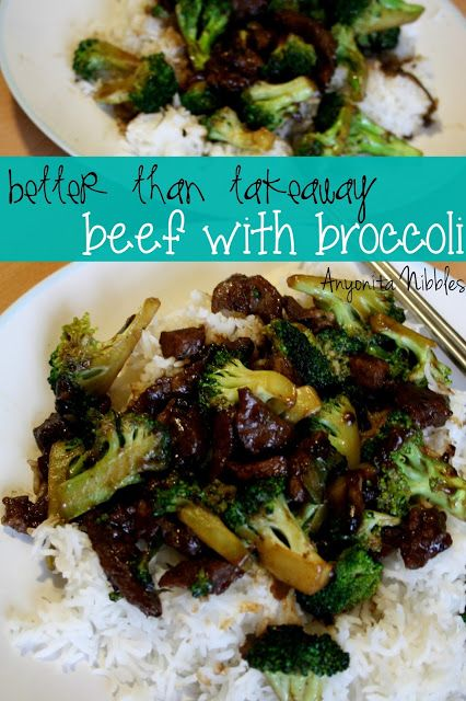 Better than Takeout Beef with Broccoli from Anyonita Nibbles. I can't wait to try this!