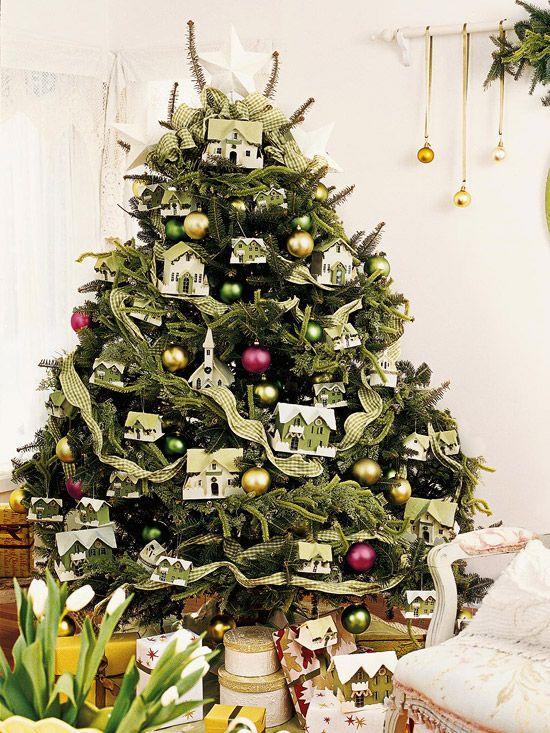 PUTZ LUVChristmas Trees Theme, Decor Ideas, Interiors Design Kitchens, Decorating Ideas, Christmas Trees Decor, Small House, Christmas Decor, Paper House, Ornaments