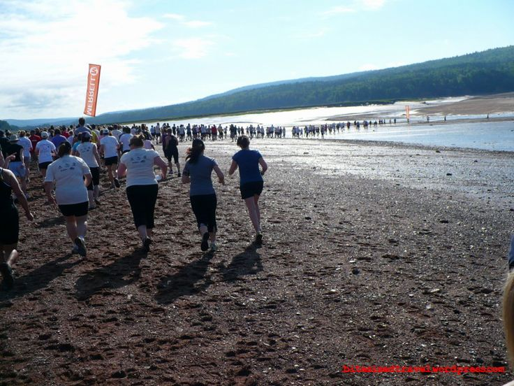 Running Not Since Moses August 11, 2013 at Five Islands on the Bay of Fundy