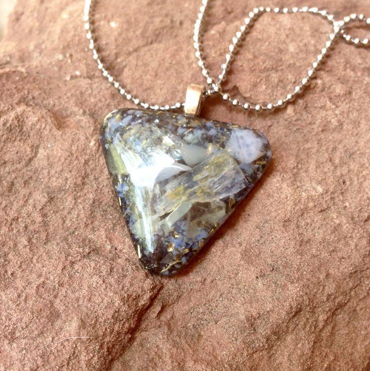 Orgone Pendant *Spacious* Orgone Necklace with  Kyanite, Celestite, Fluorite, Blue Agate, Aventurine, Blue Calcite, Pyrite, Neodymium by SourceFieldOrgone on Etsy