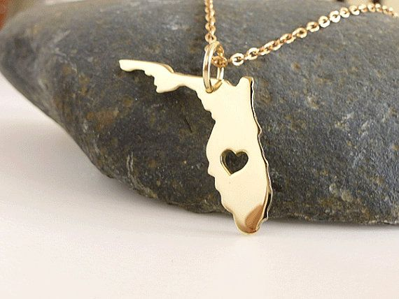 Hey, I found this really awesome Etsy listing at http://www.etsy.com/listing/160478389/florida-necklace-18k-gold-plated