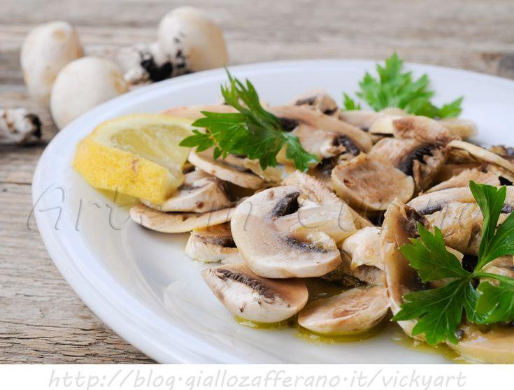 Insalata di funghi champignon con citronette vickyart arte in cucina