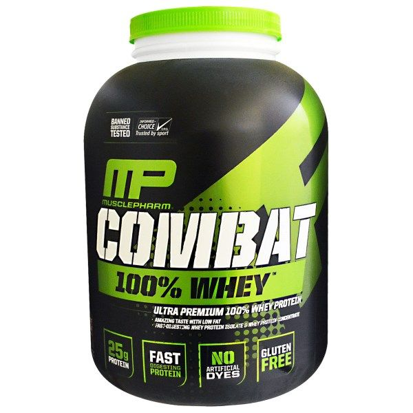 Muscle Pharm, Combat 100% Whey Protein, Chocolate Milk, 80 oz (2269 g)