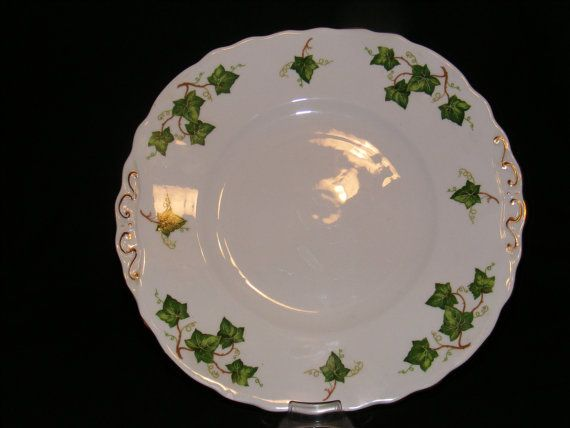 Colclough Ivy Leaf Cake Plate circa 1948 by TheTeacupAttic on Etsy