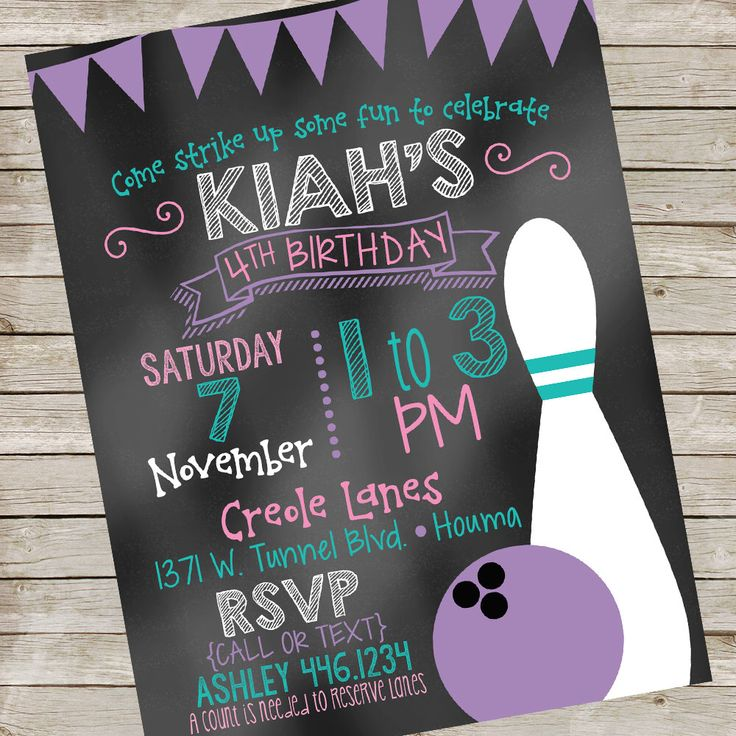 The  Best Bowling Invitations Ideas On   Kids Bowling