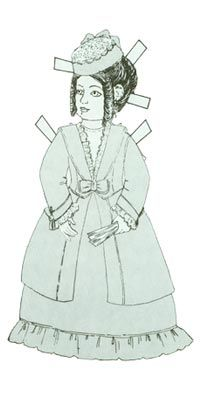 French Fashion Paper Dolls. Large fashion dolls were sent all over the world by the French in the 1700s to promote French fashion and design. Amabel is a paper doll representation of a French fashion doll. Her outfits are elegant and waiting to be colored by her new playmates. Enjoy this historical tribute to the past by downloading the Paper Doll PDF for $1.00.