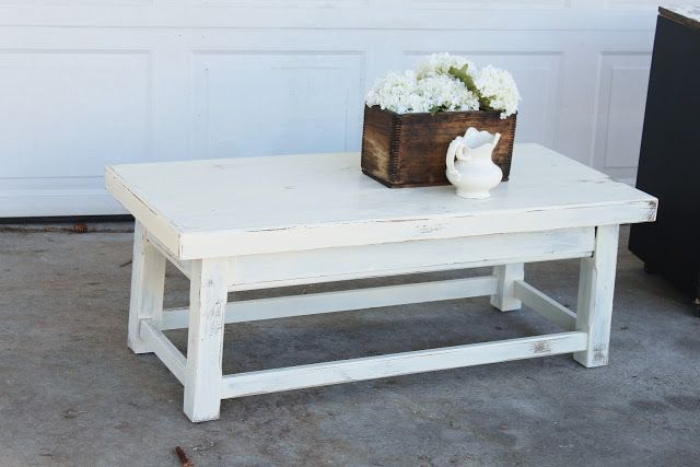 {Farmhouse Coffee Table} — Vintage Farm Furniture *Routed legs*