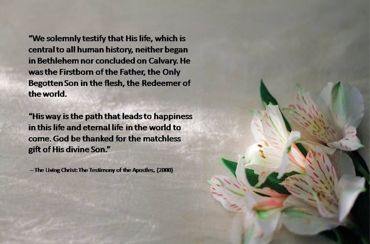 Lds Quotes For Youth: Easter Lesson Handout