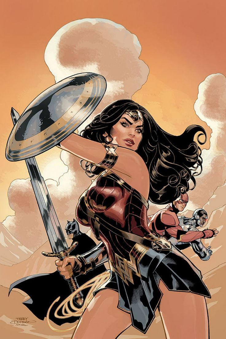 Wonder Woman #3 variant cover by Terry Dodson - Art Thief (Source) - Google+