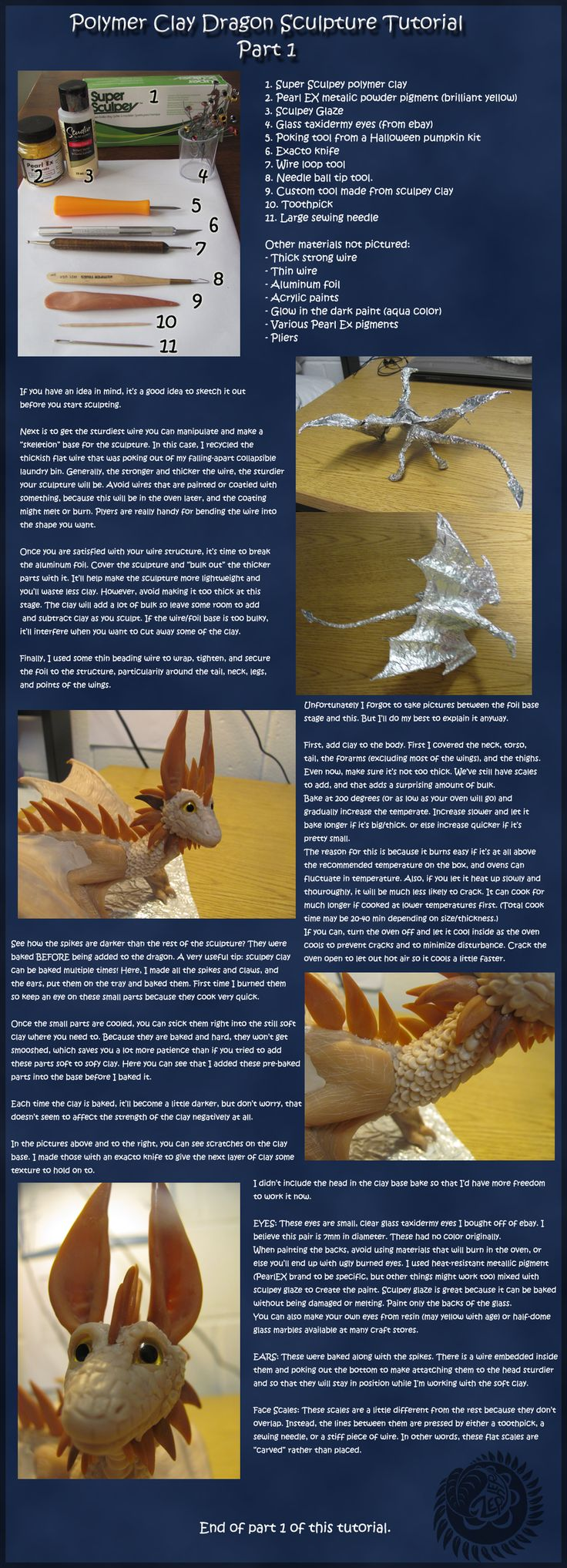 Dragon Sculpture Tutorial: Part 1 by OoZepheroO.deviantart.com on @deviantART