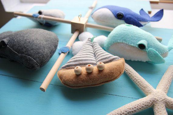 Ozean Baby Mobile Whale Kindergarten nautische Baby von mukibaba