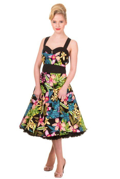 Banned Apparel Everlong Halter Dress Tropical Floral XS