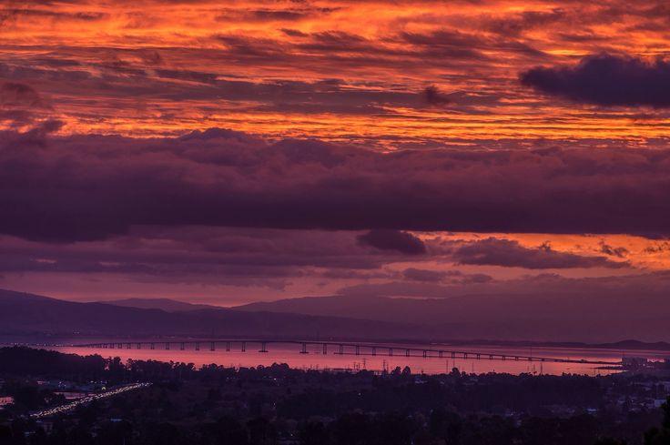 San Mateo Bridge Sunrise by Jonathan Gross