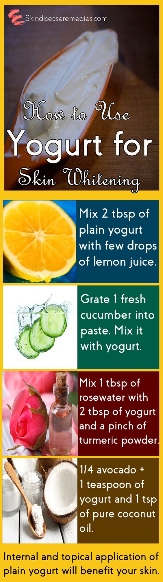 Use yogurt for skin whitening