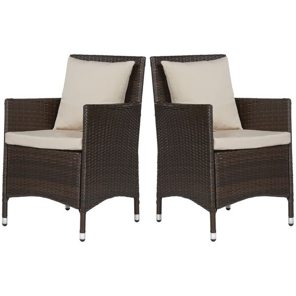 angelo:HOME Napa Estate Sandy Brown Indoor/Outdoor Dining Chair 2 Piece Set - Overstock™ Shopping - Big Discounts on ANGELOHOME Sofas, Chairs & Sectionals