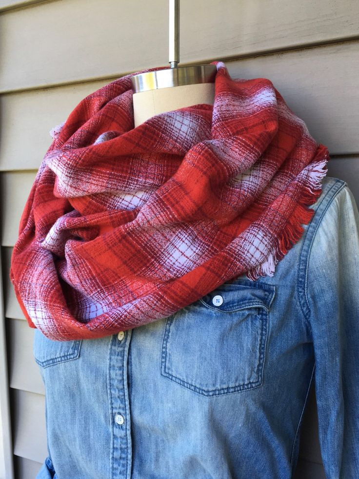 Red & White Plaid Flannel Blanket Scarf by MaeganJeanette on Etsy https://www.etsy.com/listing/463226558/red-white-plaid-flannel-blanket-scarf