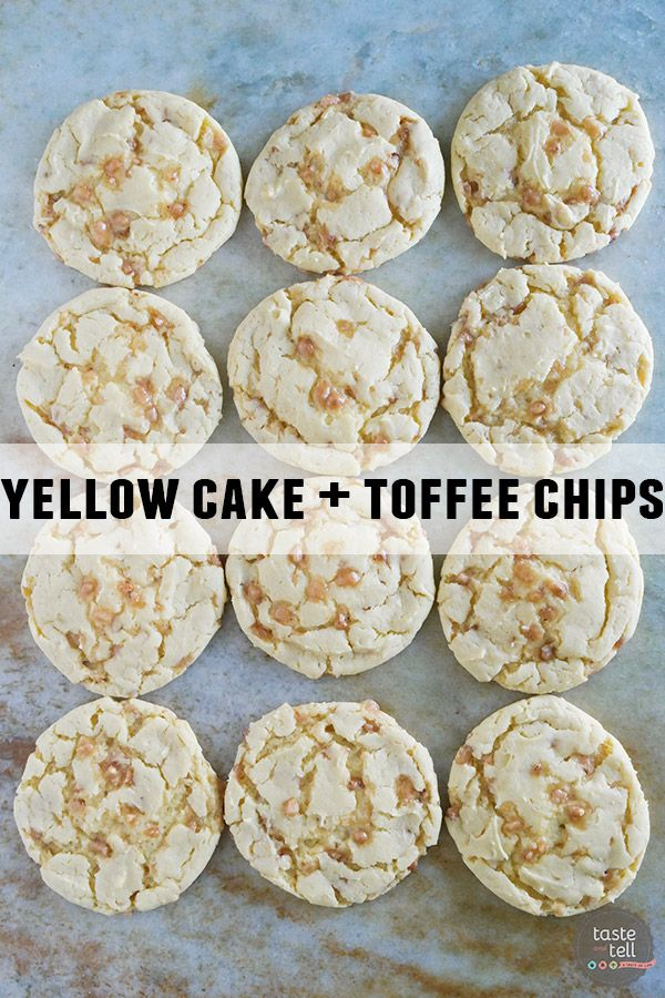 Recipes for yellow cake mix cookies