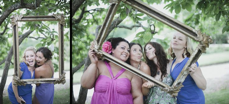 Vintage frames hanging outdoors a cool 'photo booth' idea. Image: Cavanagh Photography http://cavanaghphotography.com.au