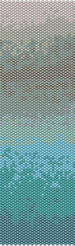 Blue ombre пейот манжеты из бисера браслет узор детективной карен zumbrun