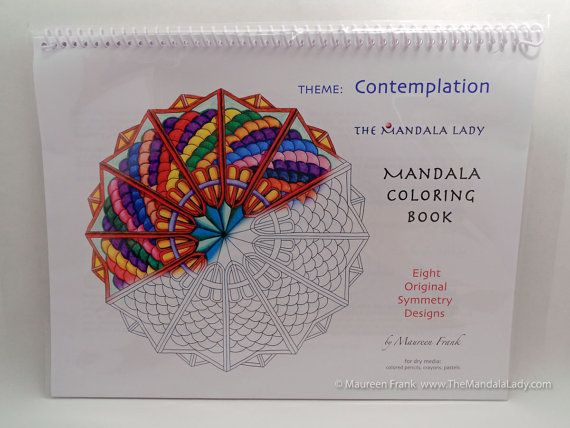 Contemplation Mandala Coloring Book By TheMandalaLady On Etsy