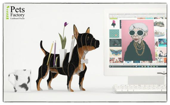These is a 3D puzzle, a fun DIY Kit – Laser cut cardboard CHIHUAHUA BLACK finished. Ready for shipping  A great pastime for you, your kids and friends. Have fun assembling it and then use it as a shelf. This wonderful element of home or office decor will adorn your room. Perfect for shelf or as a gift!  The CHIHUAHUA BLACK pieces are quick and easy to assemble, laser-cutted for precision fit using slotted construction. Our cardboard is superior to traditional ones due to the fact that…