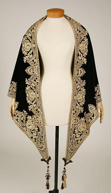 Mantle (image 1)   American   1857-60   silk   Metropolitan Museum of Art   Accession Number: C.I.54.58