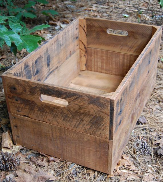 Large Looney Bin from Reclaimed Pallet/ wooden Crate/ Storage on Etsy, $74.00