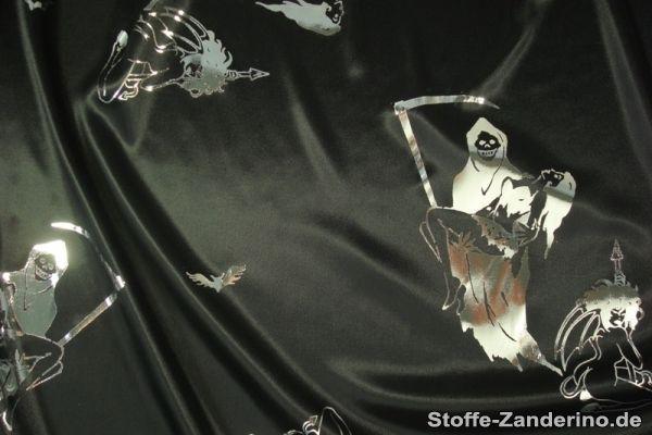 Foliendruck, Halloweenmotive, silber auf schwarz ,ca. 112cm, in Bastel- & Künstlerbedarf, Stoffe | eBay!