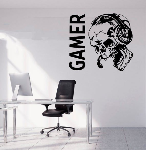 Gamer Wall Decal Gamer Decals  Controller Decals Personalized Gamer Room 2923