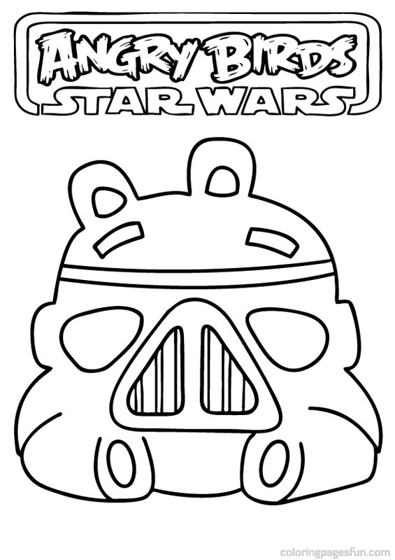Angry Birds Star Wars Coloring Pages 2 | Appliqués things to turn ...