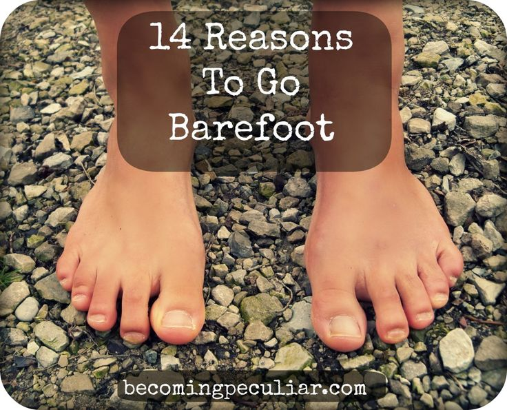 14 Reasons To Go Barefoot - this woman stops wearing shoes every spring through to November