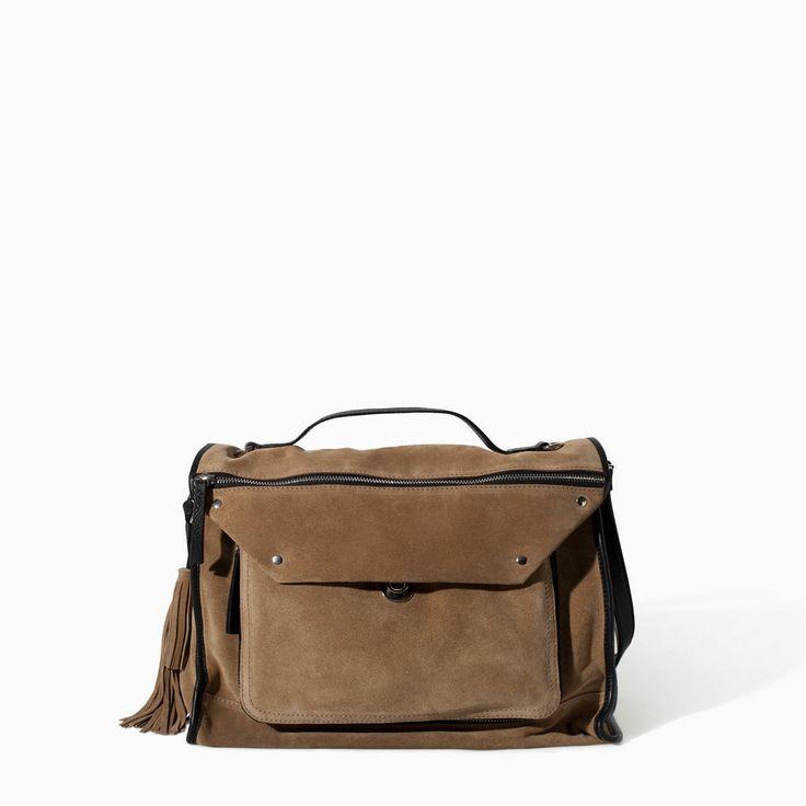 Imagem 1 de CITYBAG SERRAGEM PELE da Zara