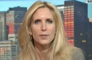 Ann Coulter, aging fascist groupie, writer of all-the-fucking-same books, falling from favor as her extremism becomes the norm for the right. Goose-step off the national stage, please.