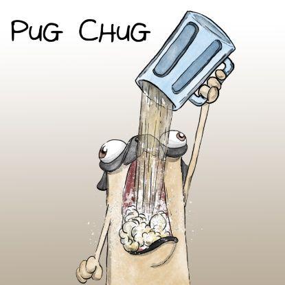 Pug Chug Art Print