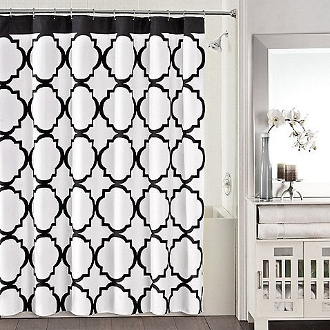 Studio 3b Jay Fret Shower Curtain In Black White Home